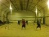 Friend playing indoor beach volleyball - Louisville, KY