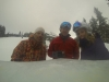 Craig & Valerie Stanford & I at The Ice Bar at Uley's Cabin - Crested Butte, CO