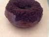 Triple Chocolate Blackout Doughnut (Chocolate Cake filled with Chocolate Pudding topped with Chocolate crumbles)