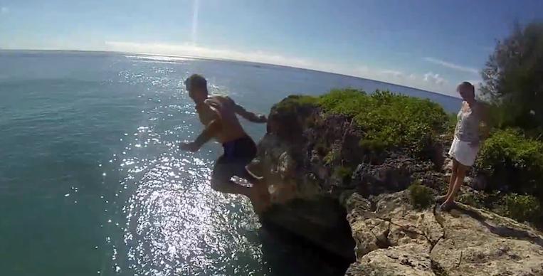 Maho Cliff Jump in St. Maarten