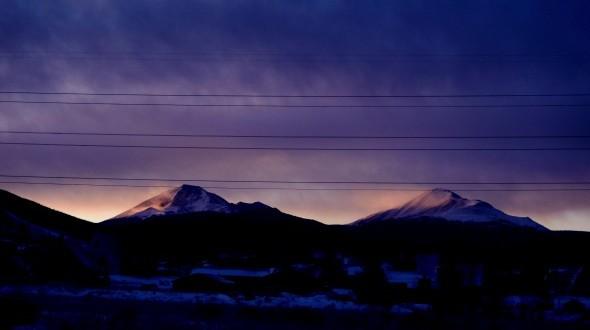 Sunrise in Dillon, Colorado
