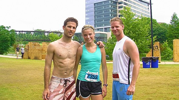 Caitlin, Richie and I after the James River Scramble 10k
