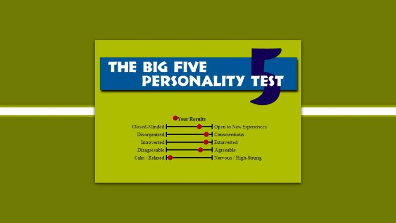 The Big 5 Personality Test