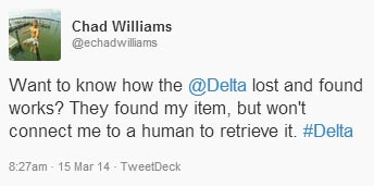 Tweet to @DeltaAssist
