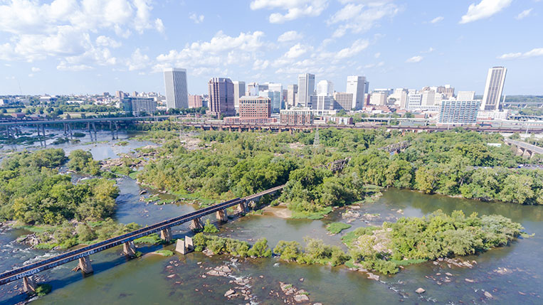 Richmond Virginia Drone Shot by Chad Williams