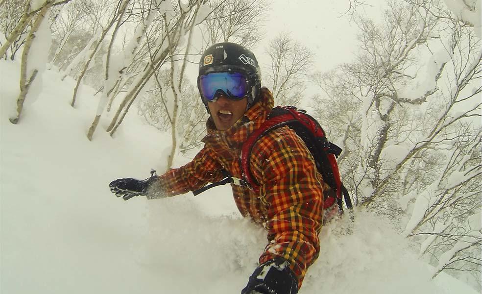 Snowboarding in Niseko Japan